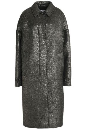 JIL SANDER Metallic coated alpaca and virgin wool-blend coat