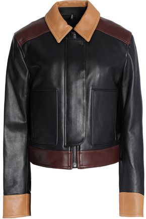 HELMUT LANG Color-block leather jacket