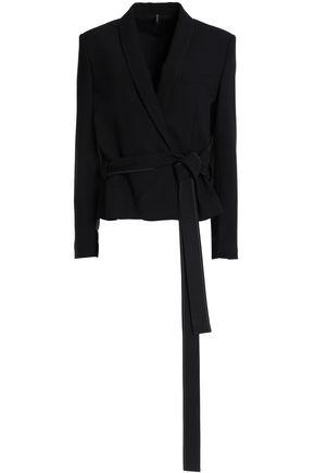 HELMUT LANG Wool-blend wrap blazer