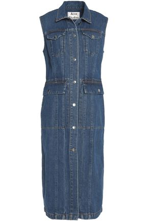 ACNE STUDIOS Paneled denim midi dress
