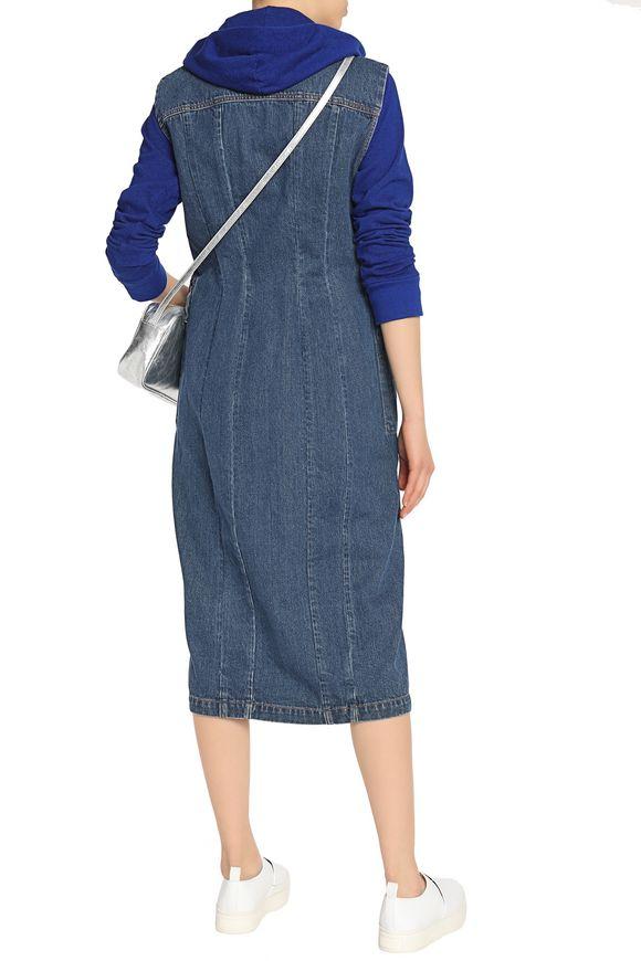 Paneled denim midi dress | ACNE STUDIOS | Sale up to 70% off | THE OUTNET
