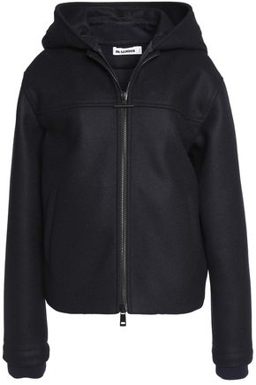 JIL SANDER Hooded virgin wool-blend jacket