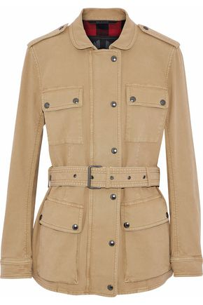 BELSTAFF Belted cotton-blend canvas jacket