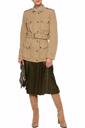 ... BELSTAFF Belted cotton-blend canvas jacket ...