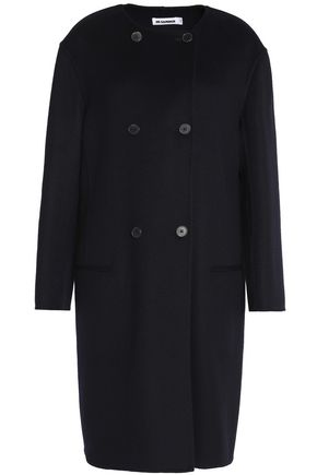 JIL SANDER Double-breasted cashmere coat