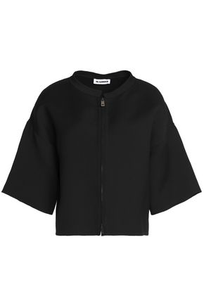 JIL SANDER Wool and silk-blend jacket