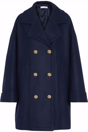 VERSACE COLLECTION Double-breasted wool-blend coat ...