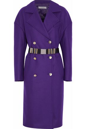 VERSACE COLLECTION Double-breasted wool-blend coat