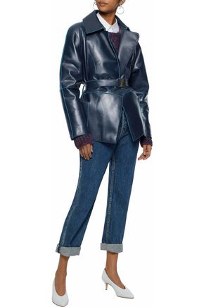 VERSACE COLLECTION Belted leather jacket
