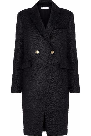 VERSACE COLLECTION Double-breasted mohair-blend coat