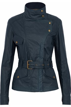BELSTAFF Belted coated-cotton jacket