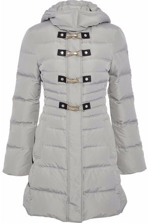 VERSACE COLLECTION Quilted shell down hooded coat