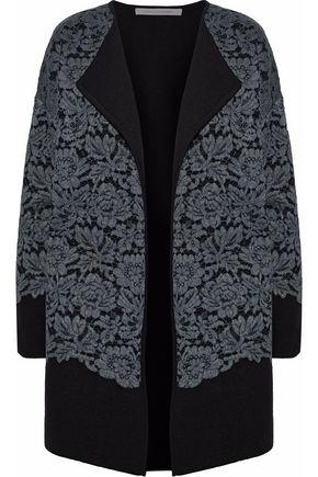 DIANE VON FURSTENBERG Lace appliquéd wool jacket