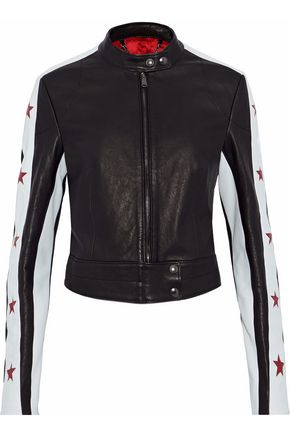 BELSTAFF Paneled leather biker jacket