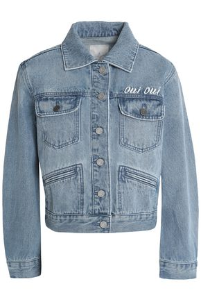 JOIE Embroidered denim jacket