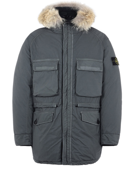 STONE ISLAND Mid-length jacket 44634 MUSSOLA GOMMATA VELOUR DOWN TC