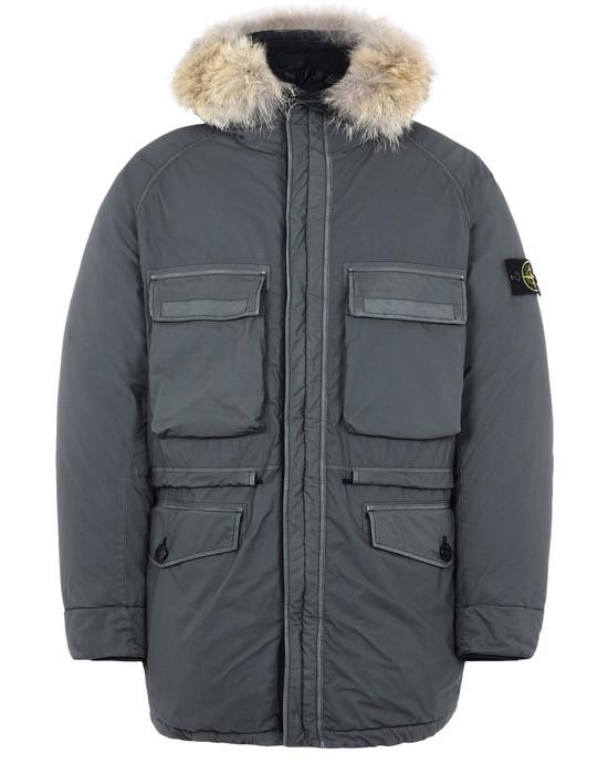 STONE ISLAND Mid-length jacket 44634 MUSSOLA GOMMATA VELOUR DOWN TC
