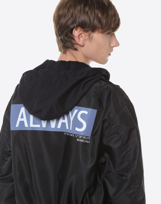 Hooded bomber with Always lettering