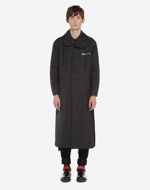 Long parka with 'Anywhen' lettering