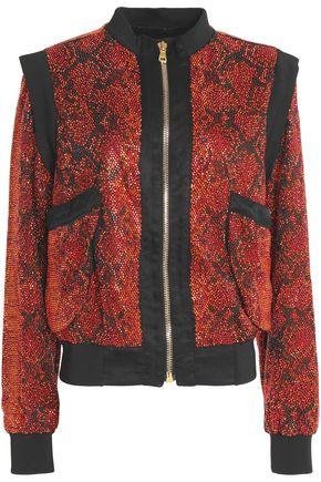 BALMAIN Embellished snake print jacket