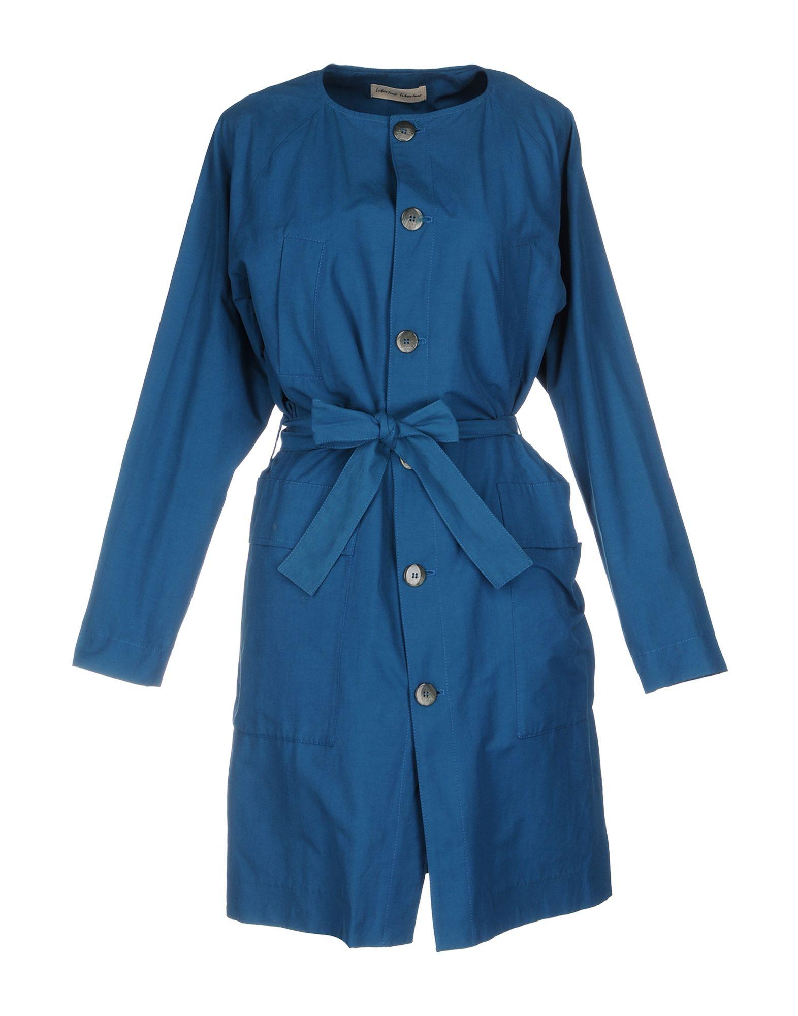 LIBERTINE-LIBERTINE Belted Coats in Pastel Blue