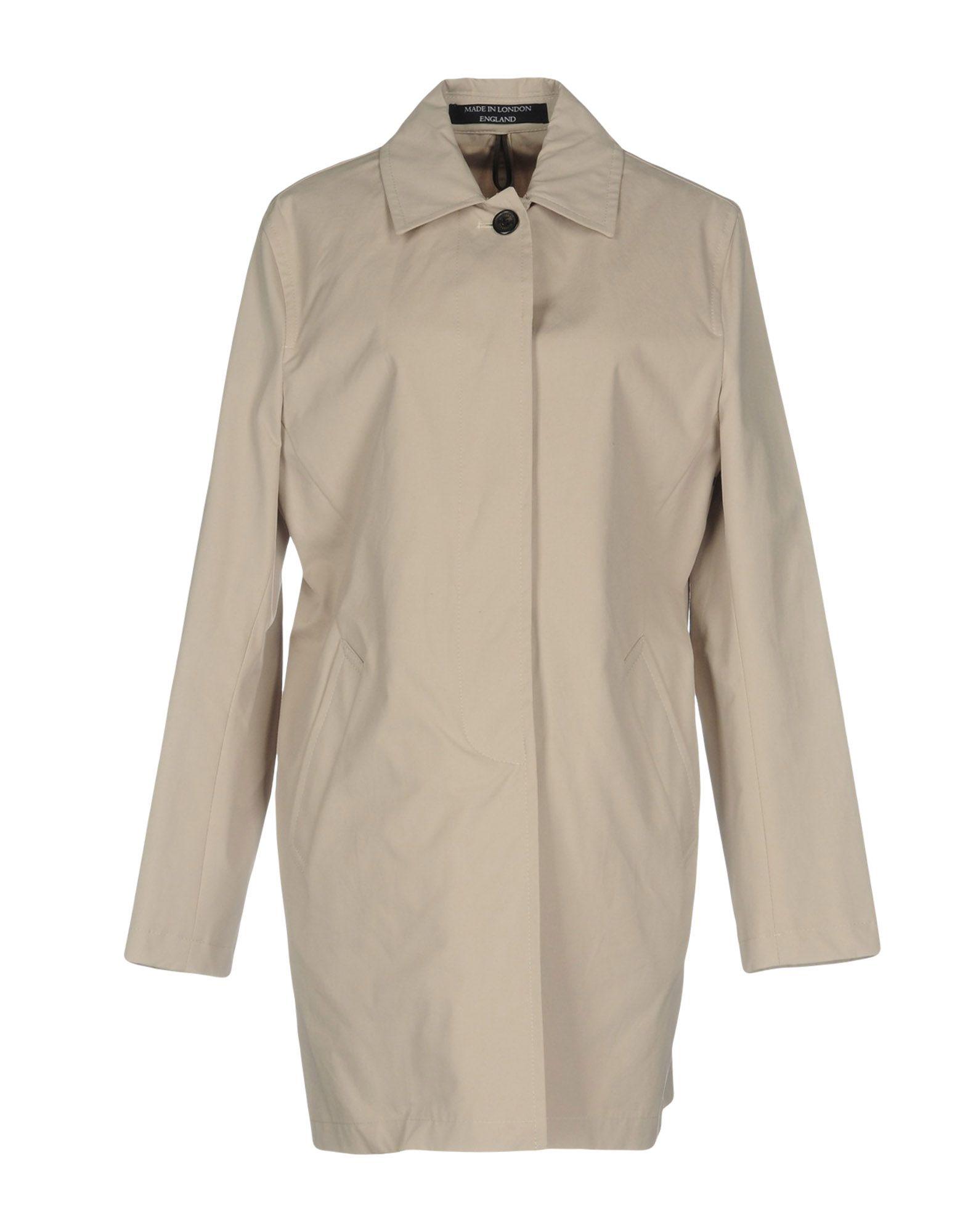 GLOVERALL Full-Length Jacket in Beige