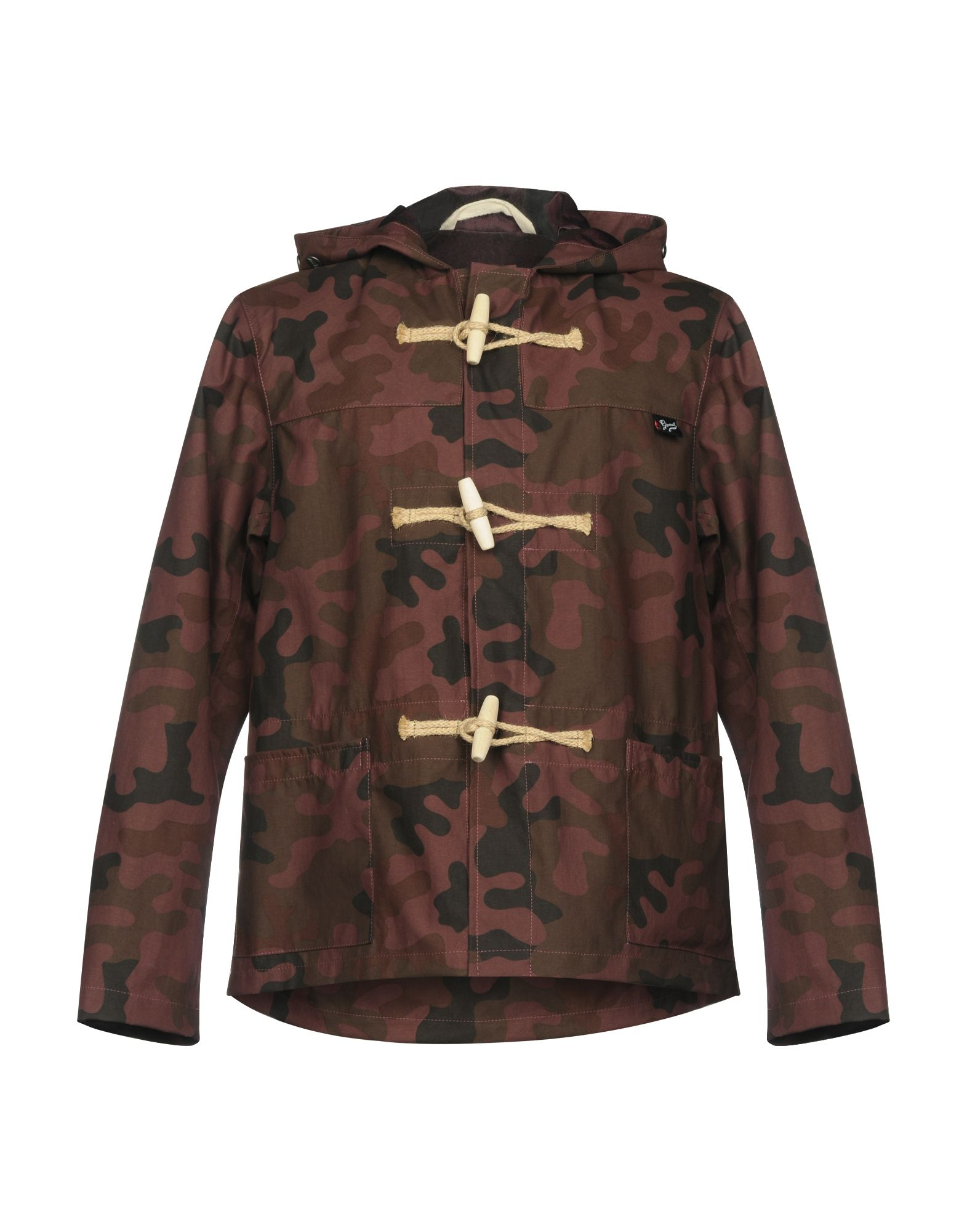 GLOVERALL Duffle Coat in Maroon