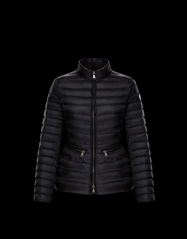 Moncler Short Down Jackets Woman: AGATE