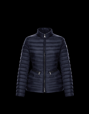 AGATE Dark blue Short Down Jackets Woman