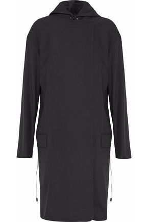 ACNE STUDIOS Piqué-wool hooded coat