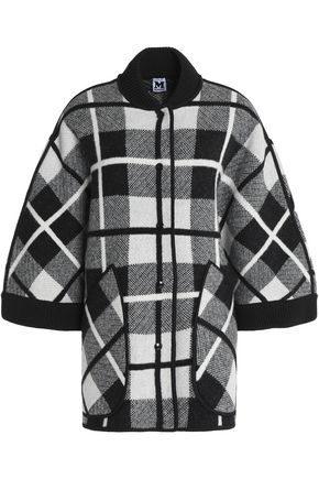 M MISSONI Two-tone checked wool cape