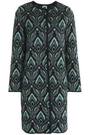 M MISSONI Printed metallic crochet-knit cardigan