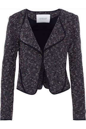 DEREK LAM 10 CROSBY Pipe-trimmed tweed blazer