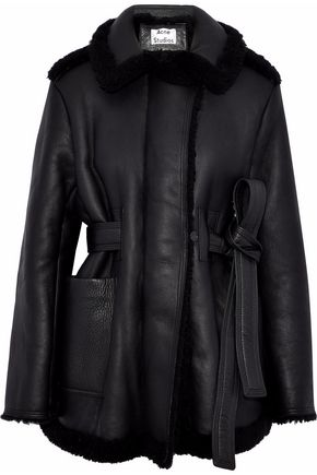 ACNE STUDIOS Leather and shearling jacket