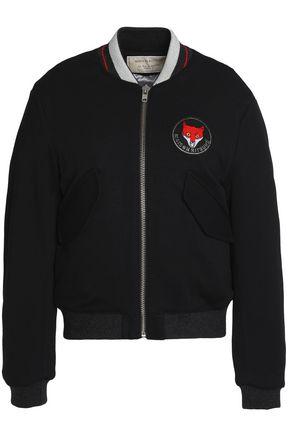 MAISON KITSUNÉ Appliquéd twill bomber jacket