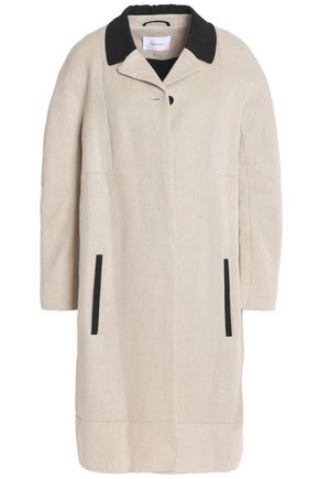 CARVEN Two-tone canvas-linen coat