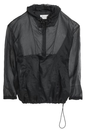 MAISON MARGIELA Silk-organza hooded jacket