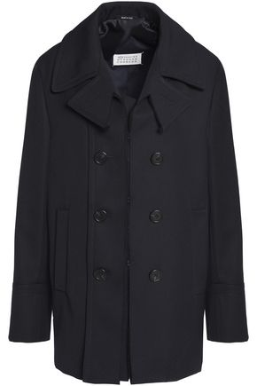 MAISON MARGIELA Double-breasted frayed gabardine coat