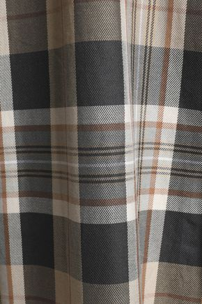 MAISON MARGIELA Distressed checked wool and cotton-blend twill hooded trench coat