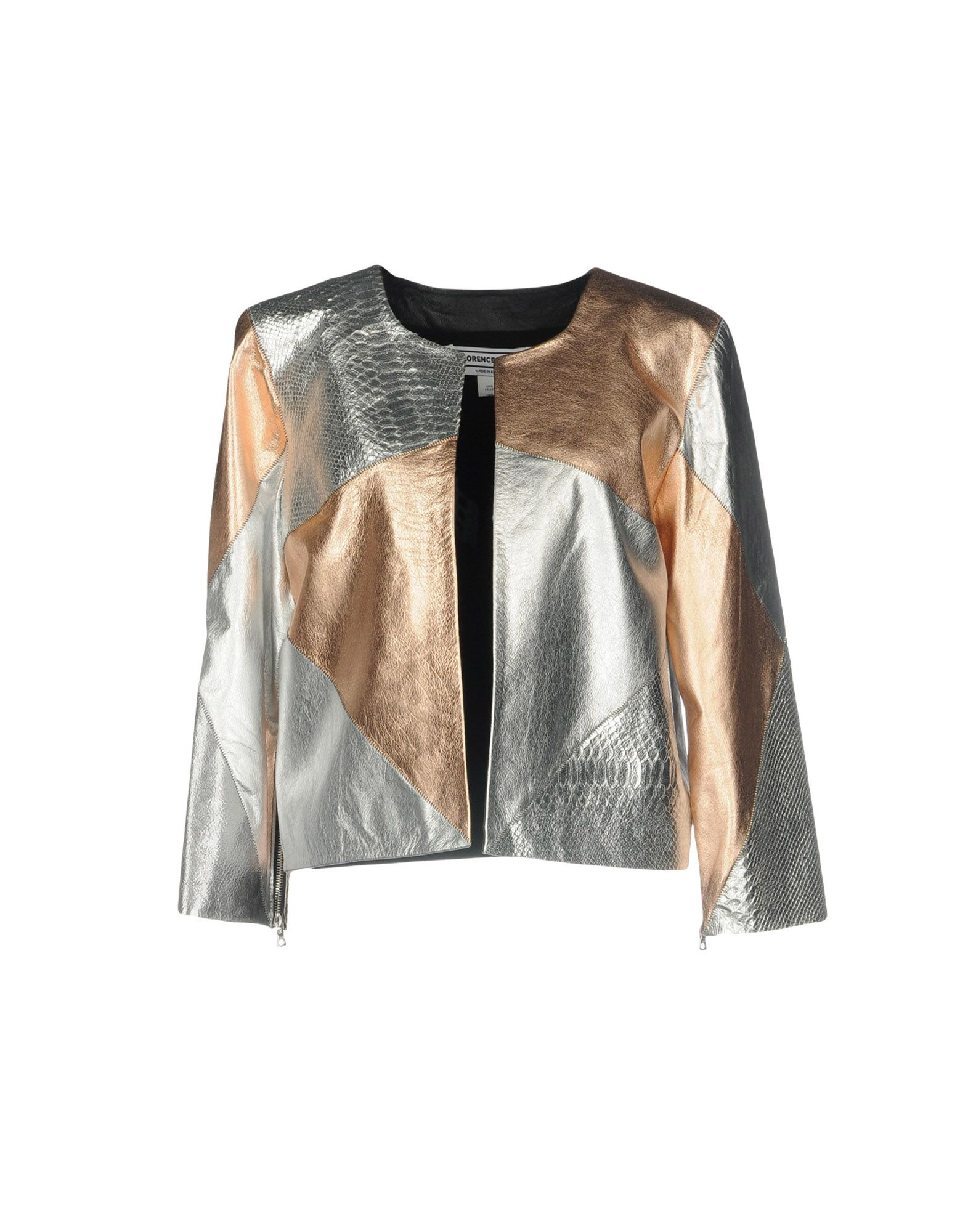 FLORENCE BRIDGE Leather Jacket in Copper