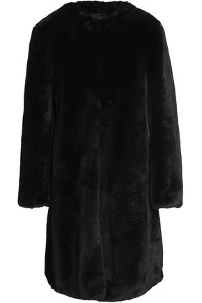 AINEA Printed faux fur coat