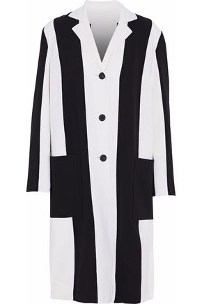 DEREK LAM Two-tone wool-blend crepe coat