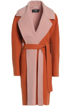 ROCHAS Two-tone wool-blend coat
