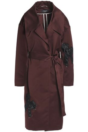 ROCHAS Appliquéd satin trench coat
