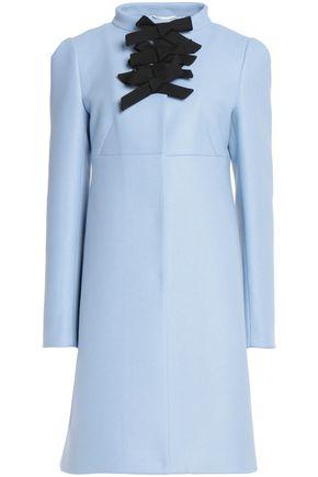 ROCHAS Bow-detailed wool-blend coat