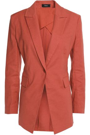 THEORY Linen-blend poplin blazer