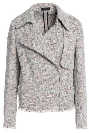 THEORY Frayed cotton-blend tweed jacke