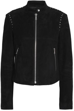 THEORY Studded suede biker jacket