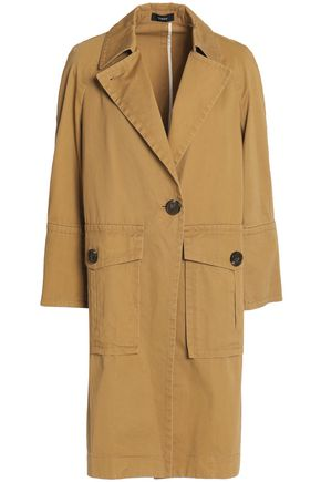 THEORY Cotton-garbardine coat