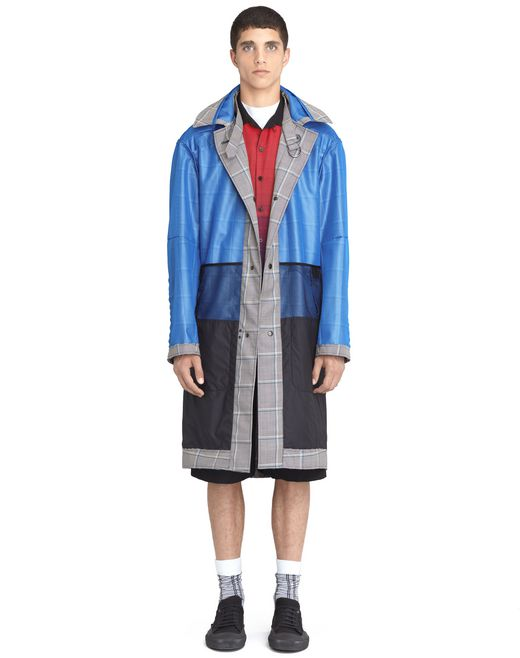 lanvin reversible raincoat  men